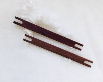 Hokett Tiny Stick Shuttle - Tapestry Weaving Stick Shuttle  - Handmade Wooden Stick Shuttle - Tapestry Weaving Tools
