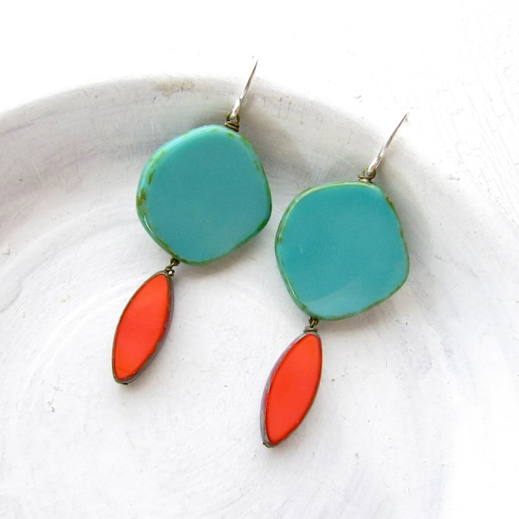 Hue Earrings > Turquoise