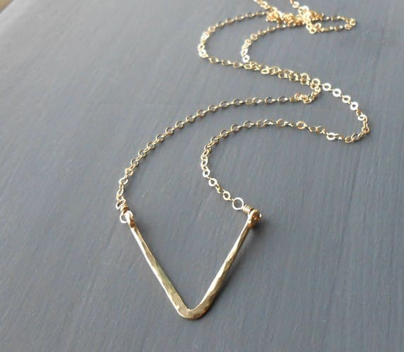 Minimalist Gold Filled Triangle Necklace