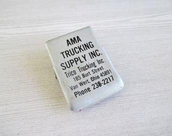 Vintage AMA Trucking Supply Inc. Advertising Clip Van Wert, Ohio Magentic