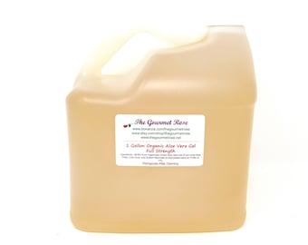 Gallon ORGANIC ALOE VERA Gel Juice All Natural Healing Food Grade Full Strength Undiluted Skin Care Soaps Sunburn Heartburn Relief Remedy