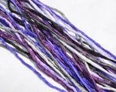 PURPLE SMOKE Silk Cord Assortment 2-3mm Hand Dyed Hand Sewn Cording Bulk 10 to 50 Strings, Purple, Violet, Lavender, Grape, Grays, Black