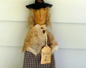 Primitive witch door hanger whisk broom