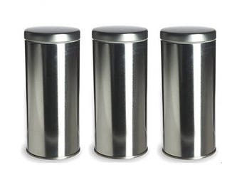 """Perfectly Imperfect Sealed Tea Tins to Store Coffee, Tea, Spices - 6"""" tall"""