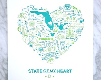 State of My Heart Florida Art Print