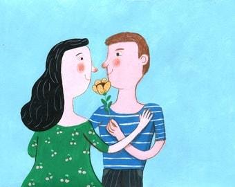 my love   Original Illustration , home decor, wall decor, wall art, nursery
