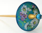 Drop Spindle - Russian Style Spindle- Top Whorl - Khokhloma - 29g/1oz