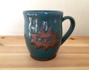 PoW - Comic Book Sound Effect - 12 oz Mug