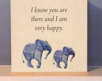 Inspirational Wooden Wall Art.  Positive inspiration.  Inspirational gift.  Elephant gift.
