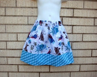 Disney skirt, Frozen character skirt, Elsa and Anna and Sven skirt 6M to size 8