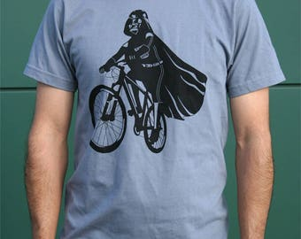 Darth Vader is Riding It men's graphic shirt, star wars t-shirt, vader on bike, gift for dad, husband birthday gift, Valentine's day for him