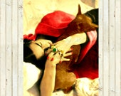Frida Kahlo Art Print Asleep Xoloitxcuintli Chihuahua Dog Portrait Photomontage Instant Digital Download Poster All Size Mixed Media Red Tan
