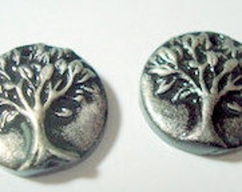 Little Trees of Life Polymer Clay Beads