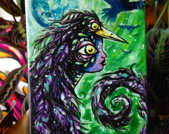 "Custom 4""x6"" original acrylic painting on canvas"