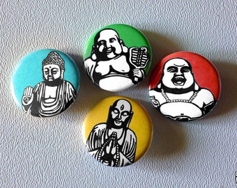 Buddha button pin set