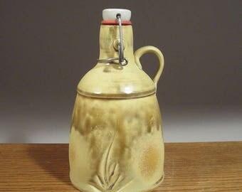 Flip Top Beer Growler , Ceramic Growler , Pottery Beer Growler , Handmade Beer Growler , Jon Whitney Pottery
