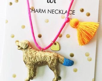 Golden Retriever. Girls Jewelry. Dog Necklace. Girls Dog Necklace. Dog Lover Gift. Pet Remembrance Necklace. Dog Necklace. Gift for Girl.