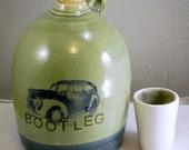 bootleg beer growler ceramic handmade