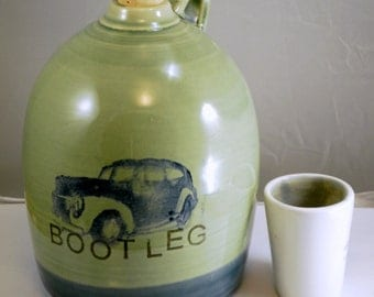 bootleg beer growler ceramic handmade