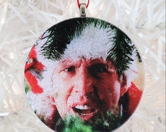 Clark Griswold of Christmas Vacation glass and glitter ornament