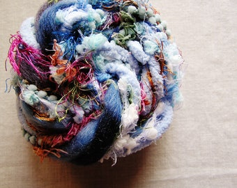 Blueberry Smoothie blue rainbow mix Pom Pom Puffy Fringe Trim Embellishment