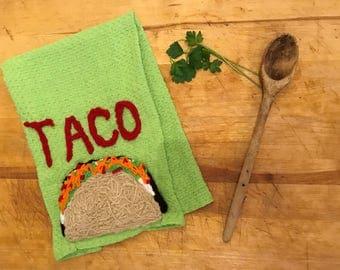 Taco~Taco Tuesday~Funny Kitchen Towel~Funny Kitchen Towels~Kitchen Gifts~Wedding Gift~Funny Dish Towels~Funny Kitchen Decor.