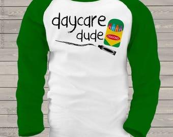 Back to school shirt - boy daycare dude kids raglan shirt  mscl-094-r