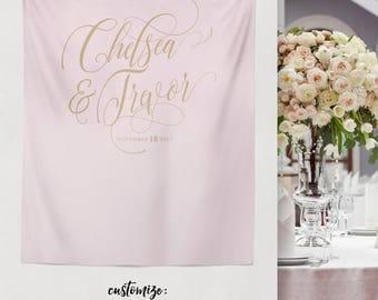 Wedding Tapestry, Wedding Head Table Backdrop, Wedding Decoration, Wedding Backdrop, Bridal Shower Photo Backdrop // W-A34-TP AA3