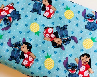 Lilo & Stitch Ohana Family Disney cotton woven sewing quilting fabric by the yard SC-16054