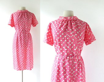 1960s Mod Dress | Fruity Pebbles | Pink Dress | 60s Dress | XL
