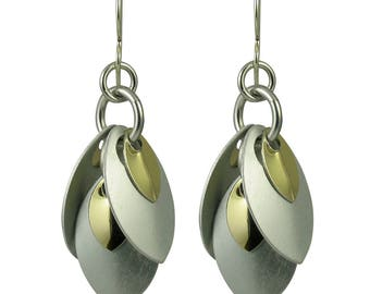 Small Version of Monochrome Musings A Simple Petal Earrings