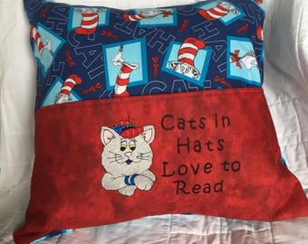 Embroidered Cat Bed Etsy