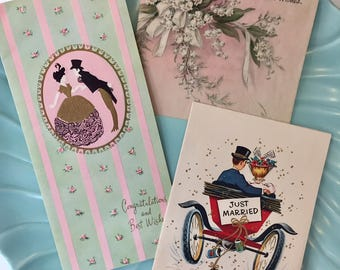 NEW Vintage Wedding Greeting Cards, Midcentury Wedding Cards, 1940s-1950s Wedding Cards