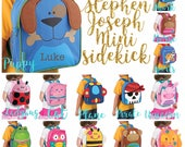 Personalized Toddler Backpack ,Toy Bag , Kids Backpack ,Preschool backpack ,Stephen Joseph Backpack, Personalized Kids Bag ,MINI Sidekick