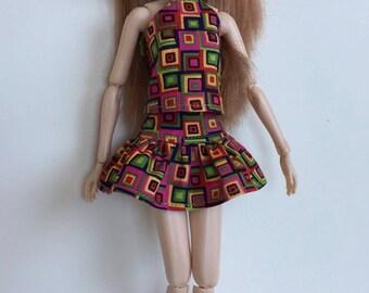 Handmade Skirt Top fits dolls like Momoko, Blythe, Pullip, Skipper, Moxie Designs by P. D. Reneau (Q812)