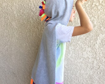 Unicorn Cape, Halloween Costume or Dress Up Cape for all ages, Custom Colors