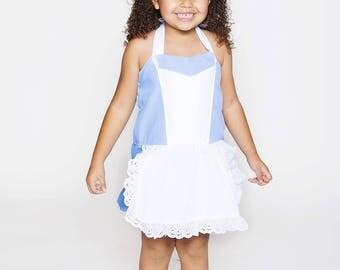 Disney Inspired Alice in Wonderland romper for Infants Toddlers girls size newborn to size 6 girls Birthday romper tea party