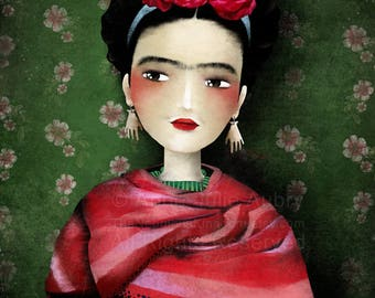 50% Off - Summer SALE - Frida - open edition print