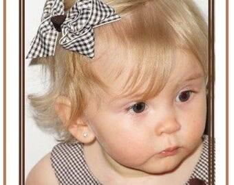 Gingham Check Hair bows, hair bows, hair bows for toddlers, Classic hair bows, Small boutique hair bows, made to match hair bows