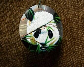Nibbling Panda on a Shell