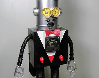 MAGICIAN Found Object Robot Sculpture  Assemblage