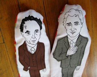 Trudeau finger puppets! Justin and Pierre!