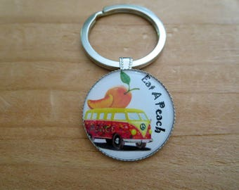 Allman Brothers Themed Keychain, Gifts that Donate ! Clip on to your Bag,  Southern Rock Carryall Yoga Duffel Knapsack Satchel Charm