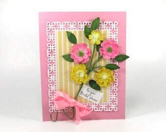Bridal shower card, Wedding shower card, handmade bridal shower cards, For the bride to be