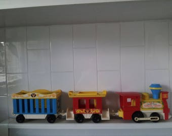 Vintage Fisher-Price 991 Play Family Circus Train Set