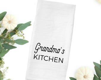 Grandma Gift, Nana Gift, Farmhouse Tea Towel, Flour Sack Tea Towel, Farmhouse gift idea, Farmhouse decor, Kitchen Gift