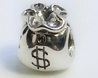 New authentic Pandora charm MOney Bag790332~ + box