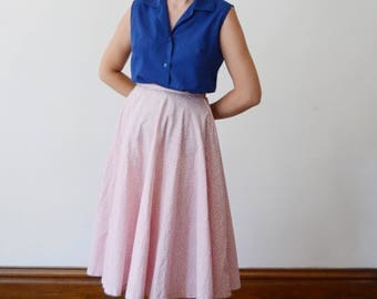 1960s Navy Blue Sleeveless Blouse - S/M