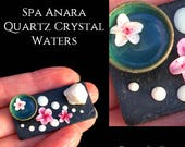 Spa Anara - Quartz Crystal Waters - Artisan Handmade Miniature in 12th scale After Dark miniatures.