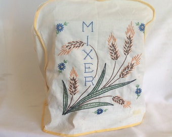 Vintage Hand Embroidered Mixer Cover